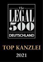Legal 500 Deutschland Führende Kanzlei 2021 Jakoby Rechtsanwälte
